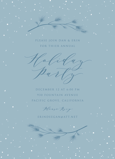 party invitations - Snowy Pines by Erin Deegan