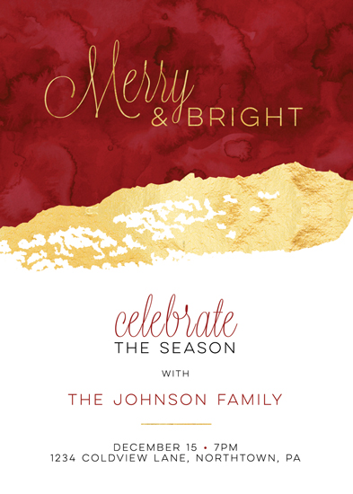 party invitations - Merry and Bright by Studio Guerassio