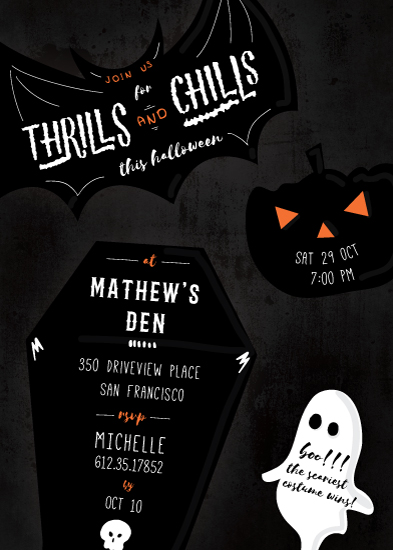 party invitations - Thrills and chills by Creo Study