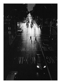 crossing the street in morningside heights new york