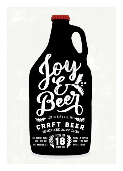 party invitations - Joy And Beer by Leah Bisch