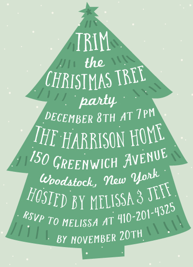 party invitations - Spruce by Jennifer Lew