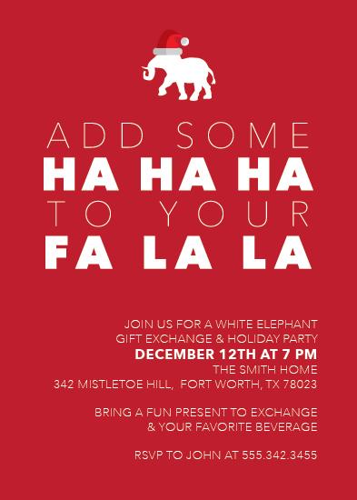 party invitations - Hahaha to your Falala by Sara Franco