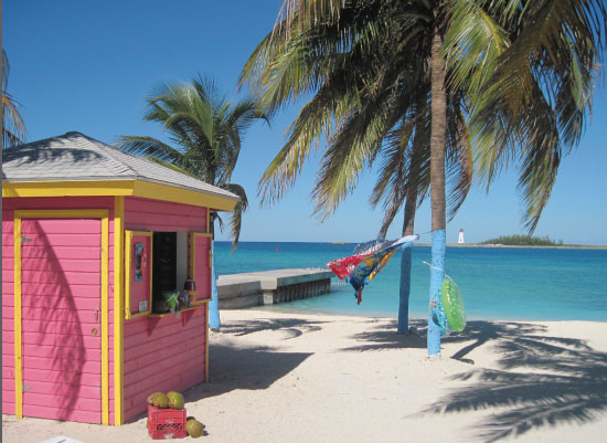 art prints - Pink Hut in Paradise by Jessica Langley