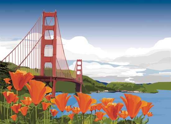 art prints - California Gold by Cecilia Torres