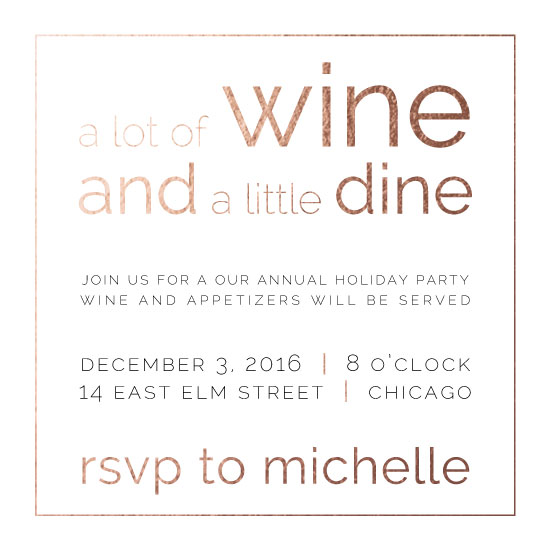 party invitations - Wine and (a little) Dine by Bri Santacaterina