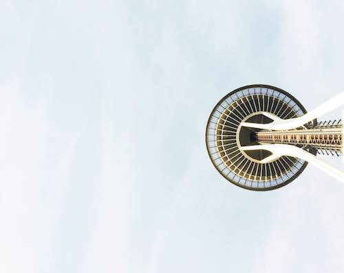 art prints - Side of Space Needle by Emily Long