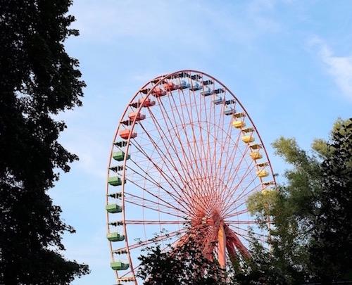 art prints - The Rainbow Ferris Wheel by Aristotle Saliva-Sclank