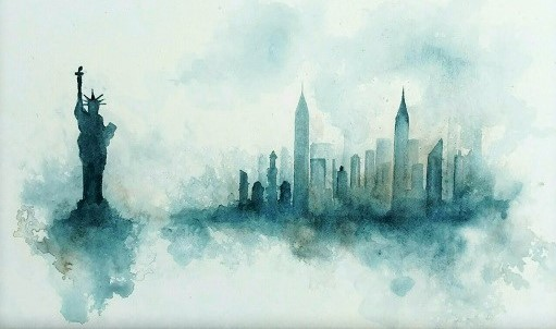 art prints - Rain Over The City by Noelle