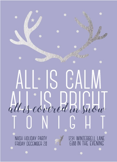 party invitations - Snowgatherings by Mya Mallad