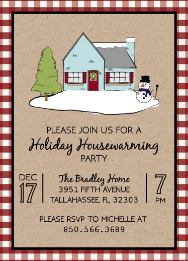 party invitations - Holiday Housewarming by Natalie Jump