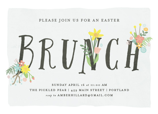 party invitations - Floral Brunch by Amy Payne