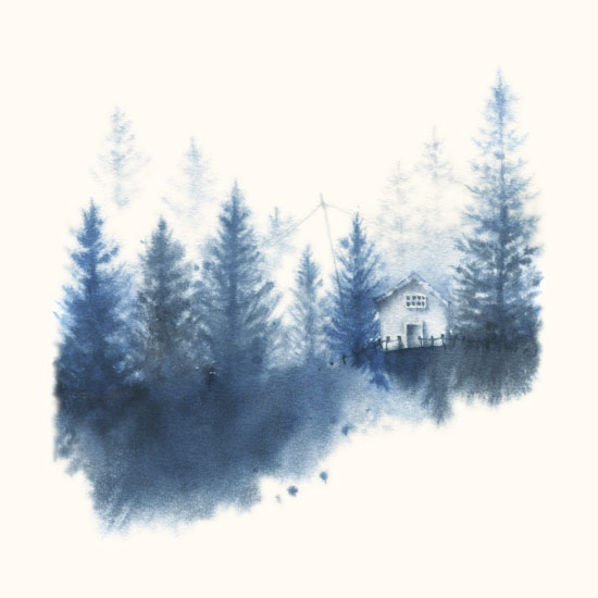 art prints - House in the Woods by Ekaterina Romanova