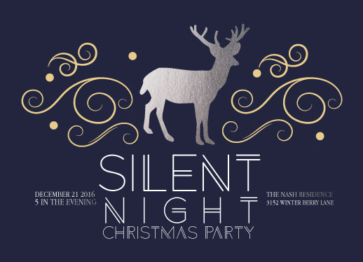 party invitations - Silent Night by Mya Mallad