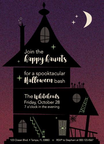 party invitations - Happy Haunts by Stephani Mrozinski