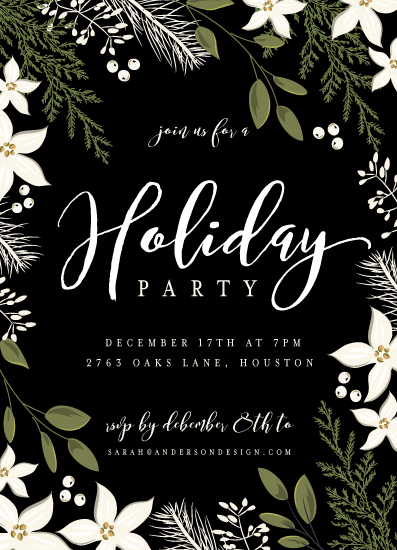party invitations - Holiday Party Greens by Susan Moyal