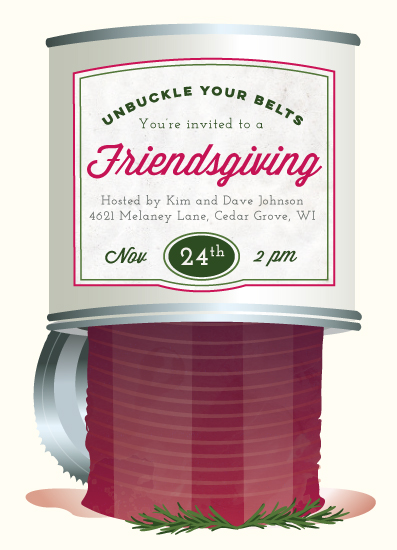 party invitations - Cranberry Sauce by Katie Zimpel