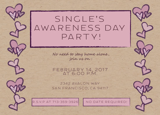 party invitations - Singles Just Wanna Have Fun! by Susan Ralls