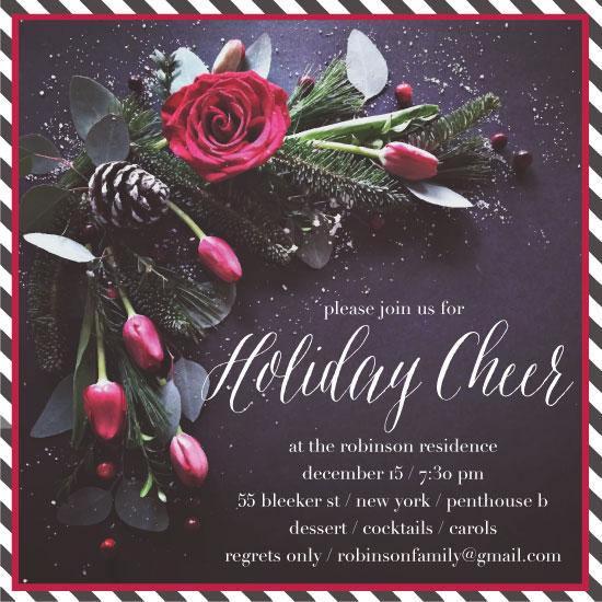 party invitations - Pinerose Cheer by Kari Joy