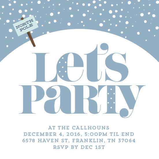 party invitations - Polar Party by Baumbirdy