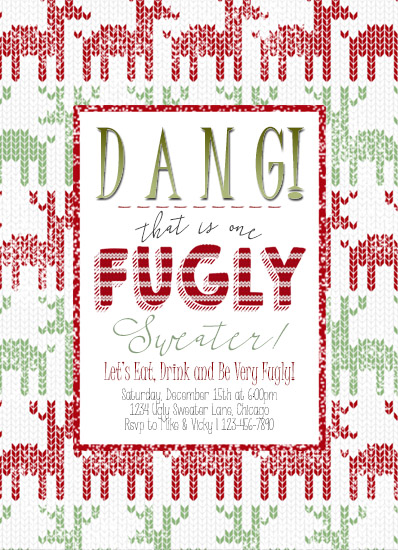 party invitations - Fugly Sweater by Christy Platt
