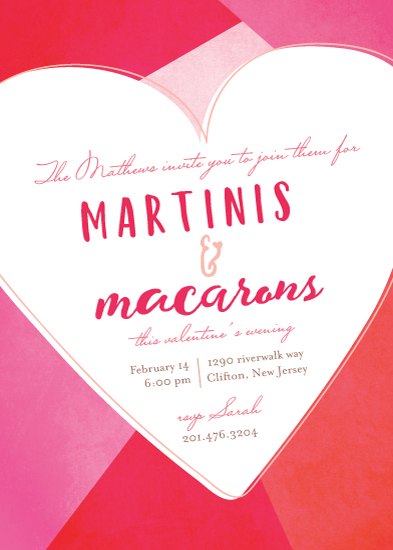 party invitations - martini and macaron by Creo Study