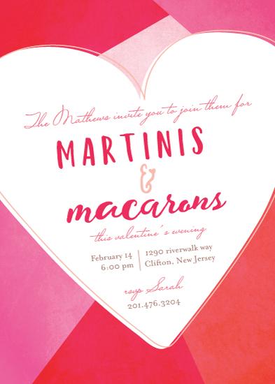 party invitations - martini and macaron by Sweta Modi