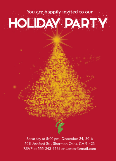 party invitations - May All Your Christmases Be Bright by Cecilia Torres