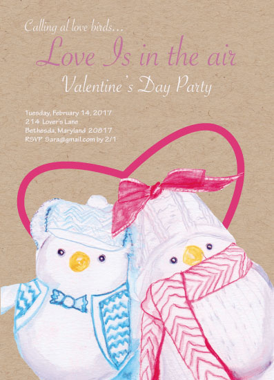 party invitations - Love Bird Valentine by Jason T Smith