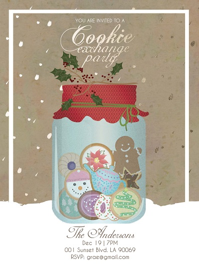 party invitations - Jar of Cookies by Grae Sales
