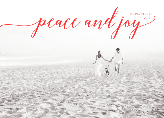 holiday photo cards - peace and joy by Celia Maria