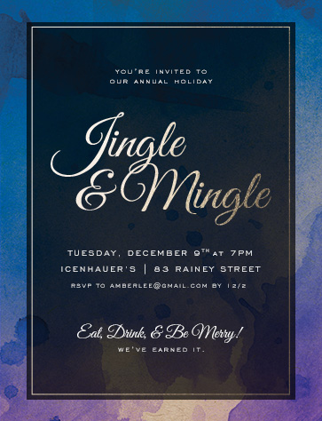 party invitations jingle mingle holiday work party at minted com