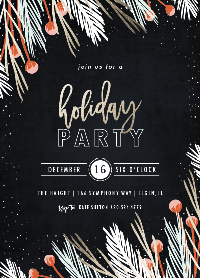 party invitations - glistening pine by Angela Marzuki