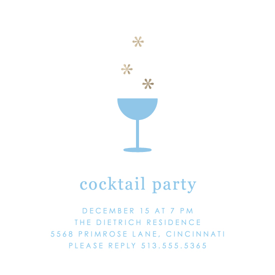 party invitations - Snow Bubbly by Kim Dietrich Elam