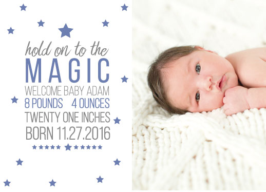 holiday photo cards - Welcome to the World by Mya Mallad