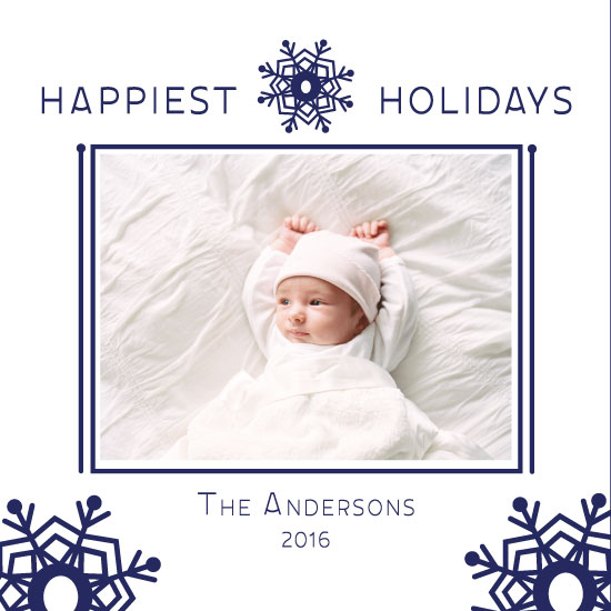 holiday photo cards - Snowflake Chic by Susan Ralls
