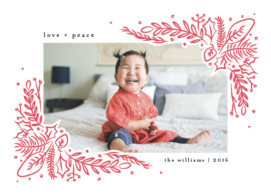 holiday photo cards - Pressed Greens by Amy Payne