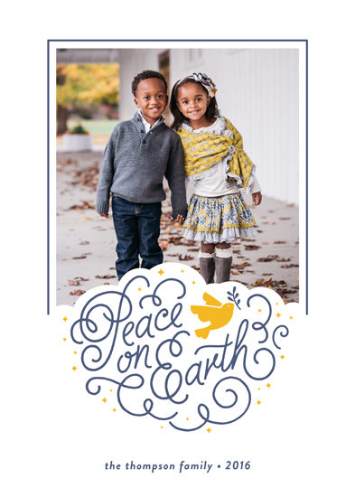 holiday photo cards - Peaceful Holiday by Olive and Me Studios