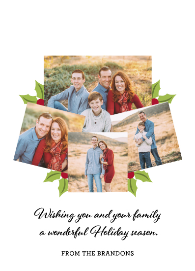 holiday photo cards - Best Wishes on Holiday by High5ive Creative