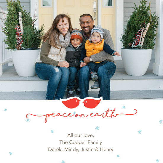 holiday photo cards - Peace on Earth by Jessica Brooks