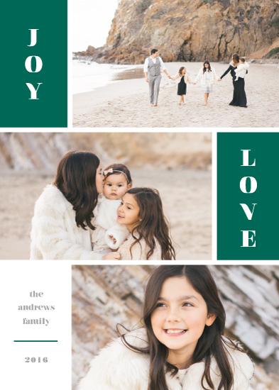 holiday photo cards - Color Blocked Joy by Liz Conley