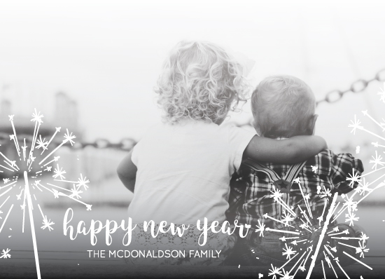 holiday photo cards - Sparkling New Year Wishesw by Katrina Lindhorst
