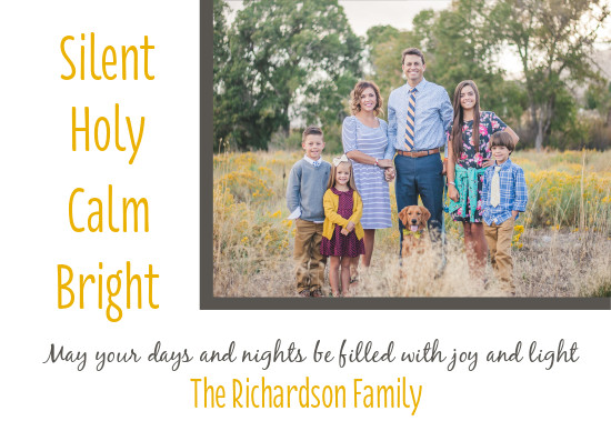 holiday photo cards - Silent NIght by Patterned Pomegranate