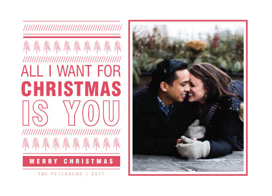 holiday photo cards - All I want for Christmas is you by Paper Locket