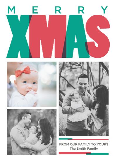 holiday photo cards - Xmas Overlap by Melanie Kohler