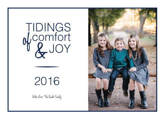 holiday photo cards - Joyful Tidings by LindaM