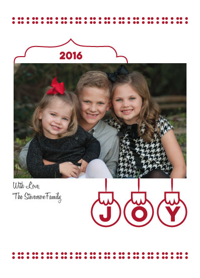 holiday photo cards - Joyful Ornaments by LindaM