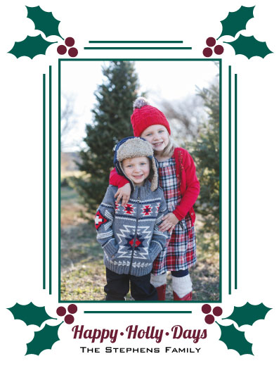 holiday photo cards - Happy Holly Days by LindaM