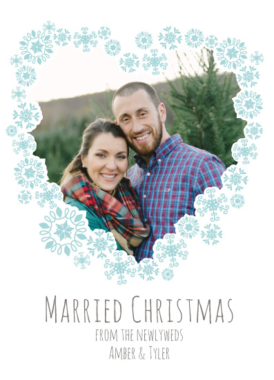 holiday photo cards - Snowflake Heart by Amber Hare