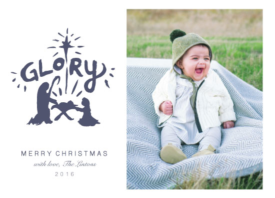 holiday photo cards - Glory To God In The Highest by Linnea Taylor